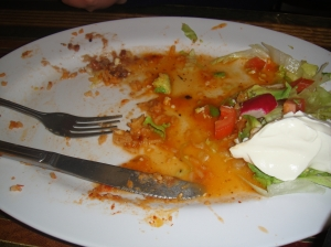 Oops.  The flautas were so good, I forgot to wait for my dad to take the photo